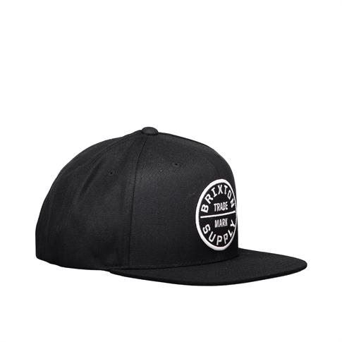 Brixton Oath 111 snapback - kleur: Black