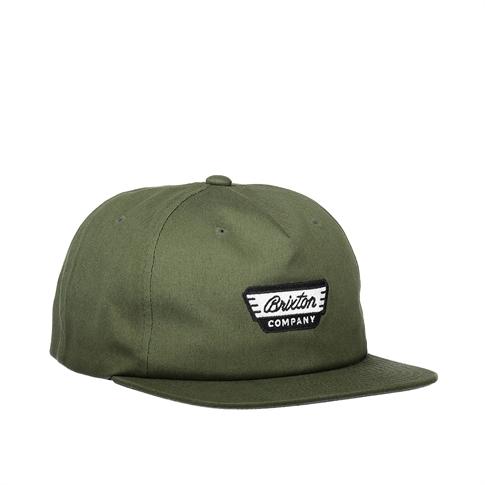 Brixton Normandie snapback - kleur: Green Dark