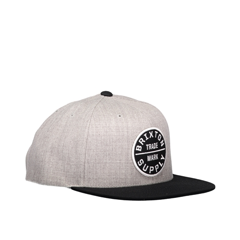 Brixton Oath 111 snapback - kleur: Grey Light