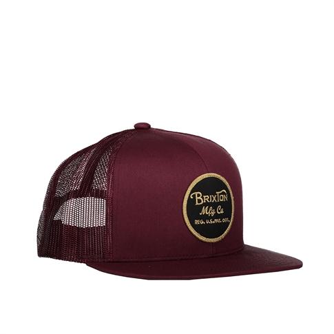 Brixton Wheeler mesh cap - kleur: Red Bordeaux