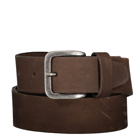 Legend Suede classic belt 4CM - kleur: Brown