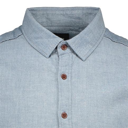 Gsus Zip Shirt Blue Indigo