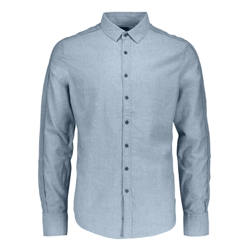 Gsus Zip Shirt - kleur: Blue Indigo