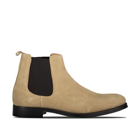 Selected David New Suede Sneaker - kleur: Beige Sand