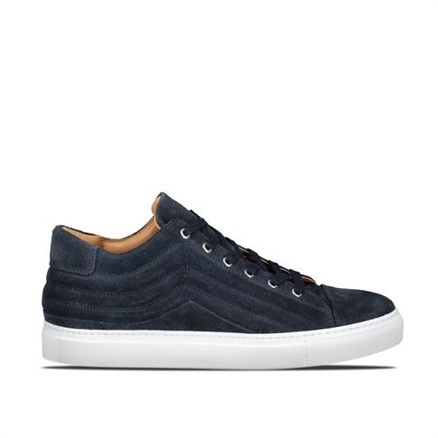Selected Drake Suede Sneaker - kleur: Blue Navy