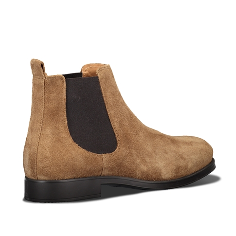 Selected Oliver Suede Chelsea Boot Brown Cognac