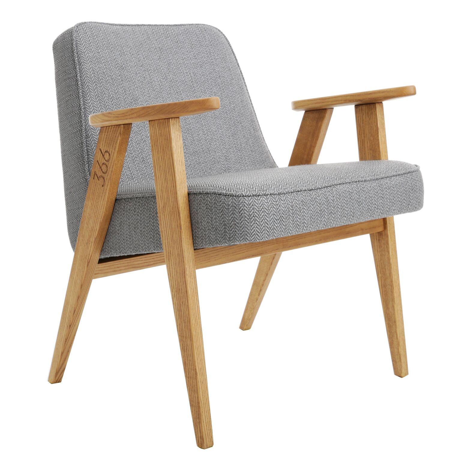 366 Easy Chair - Tweed Grey - merk: 366 Concept s.c.