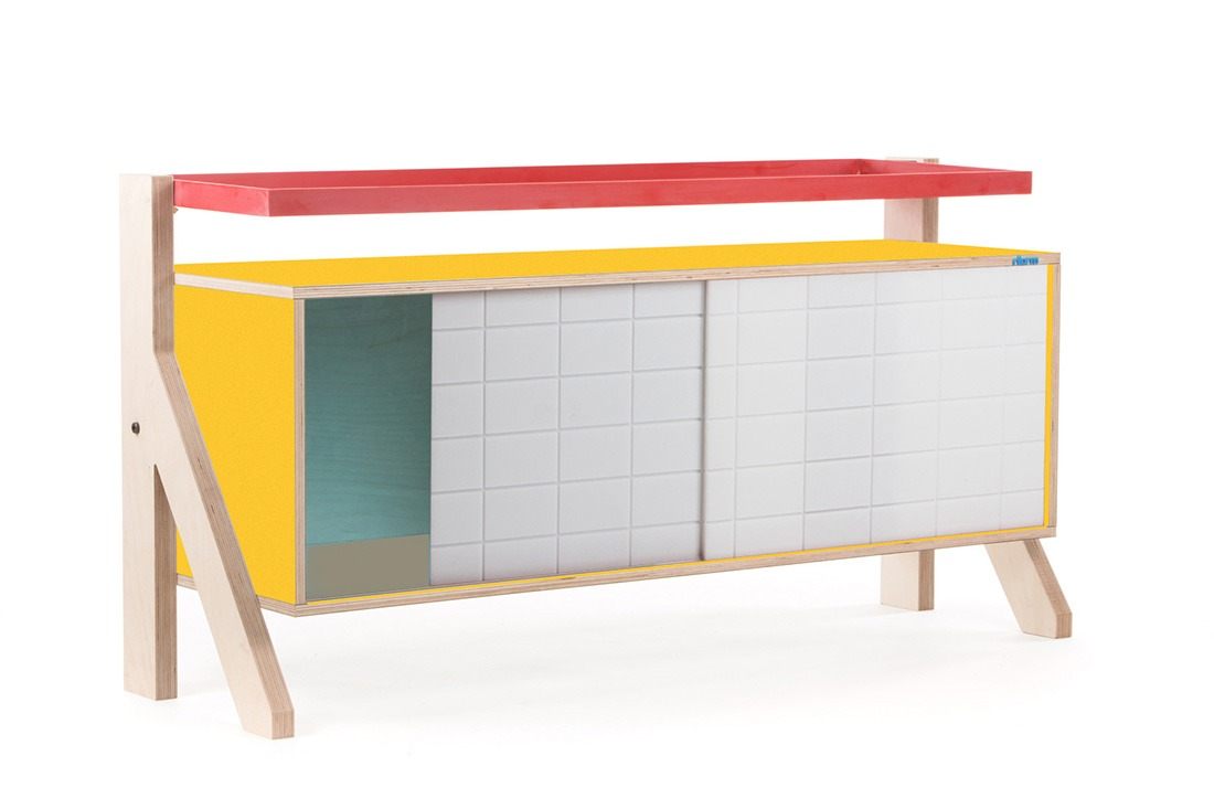 Frame Sideboard 03 - 10 Colours - L115cm - Canary Yellow - merk: rform