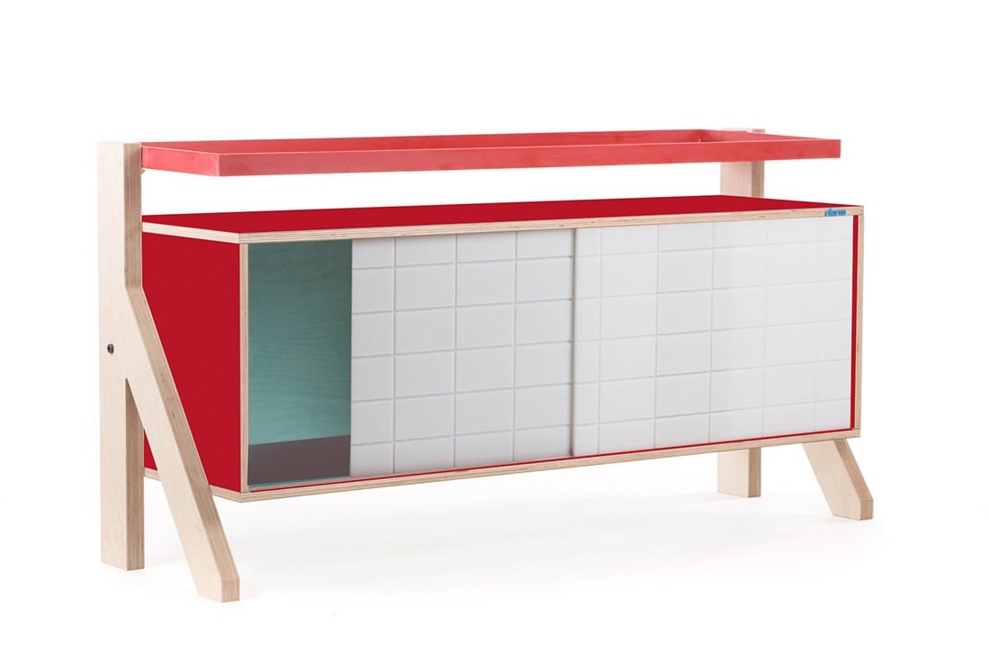 Frame Sideboard 03 - 10 Colours - L115cm - Cherry Red - merk: rform
