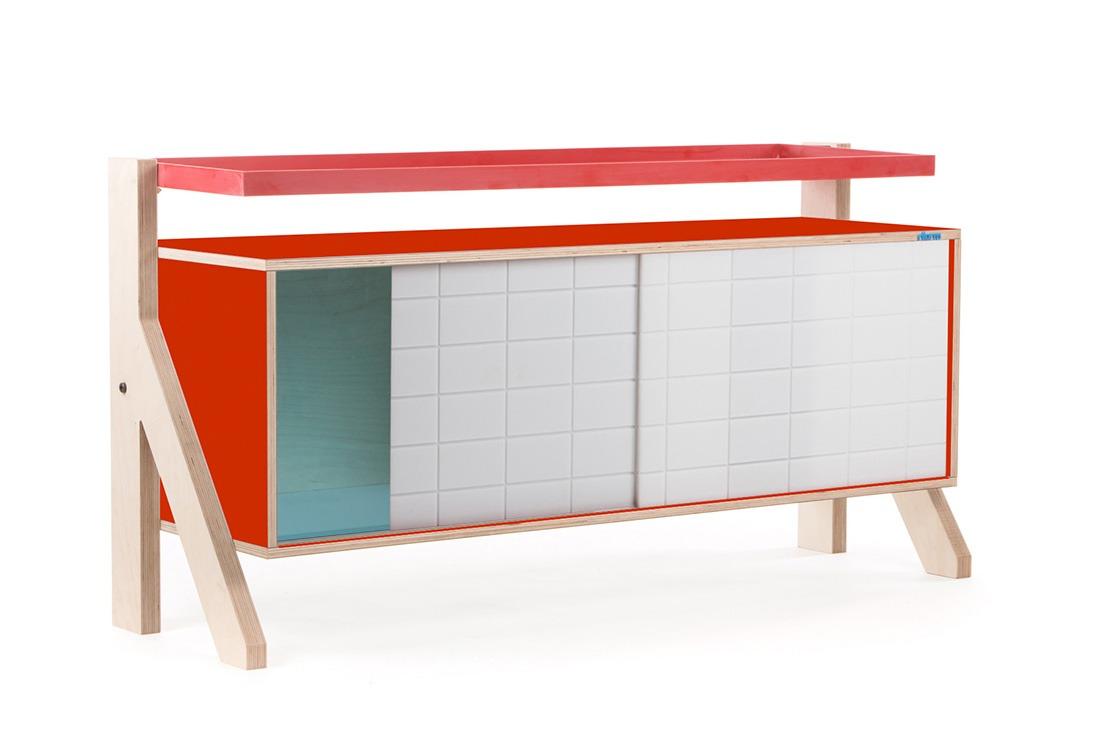 Frame Sideboard 03 - 10 Colours - L115cm - Foxy Orange - merk: rform