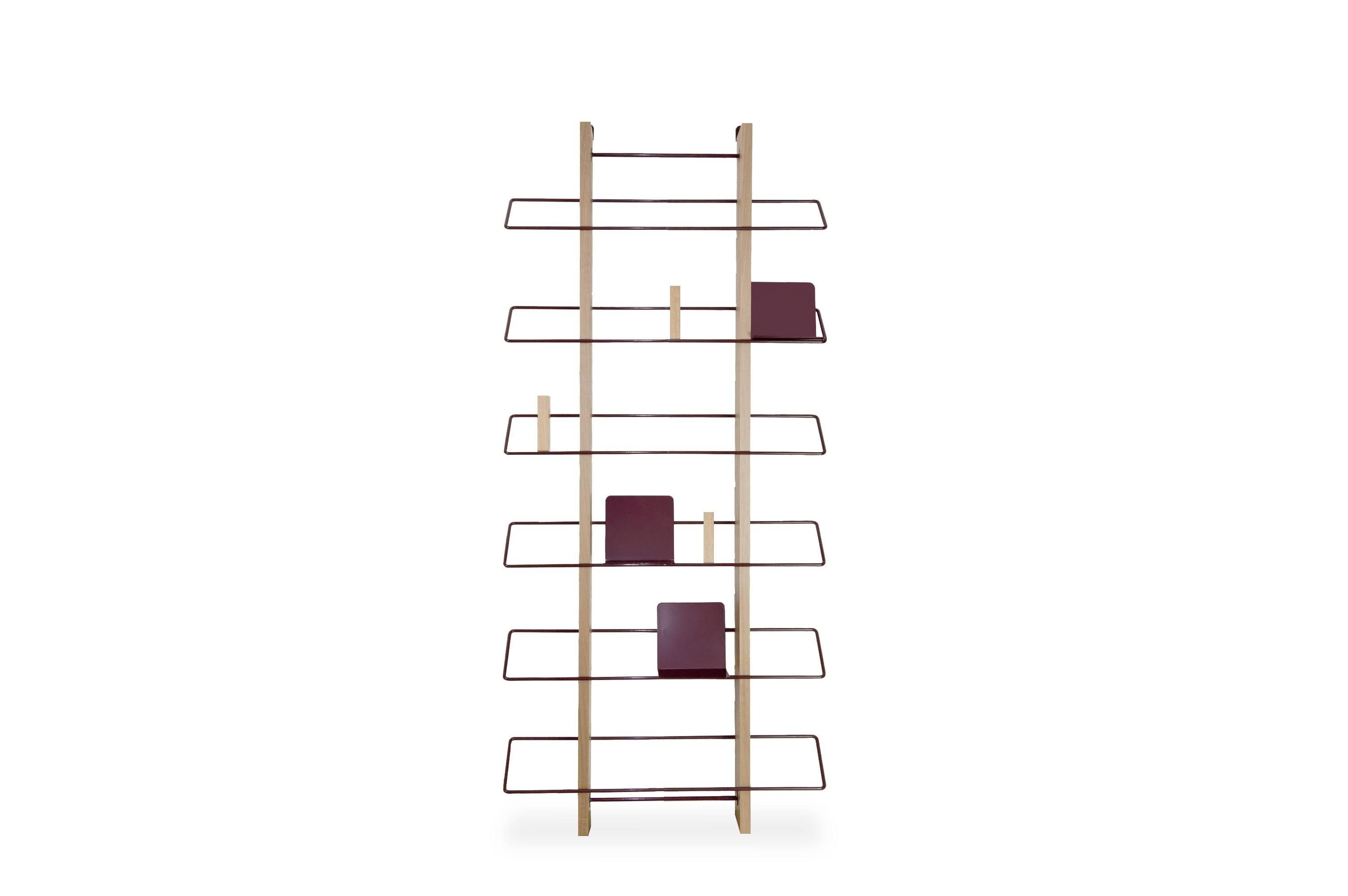 Grapevine Wooden Wall Bookshelf - Burgundy - merk: Edizione Limitata
