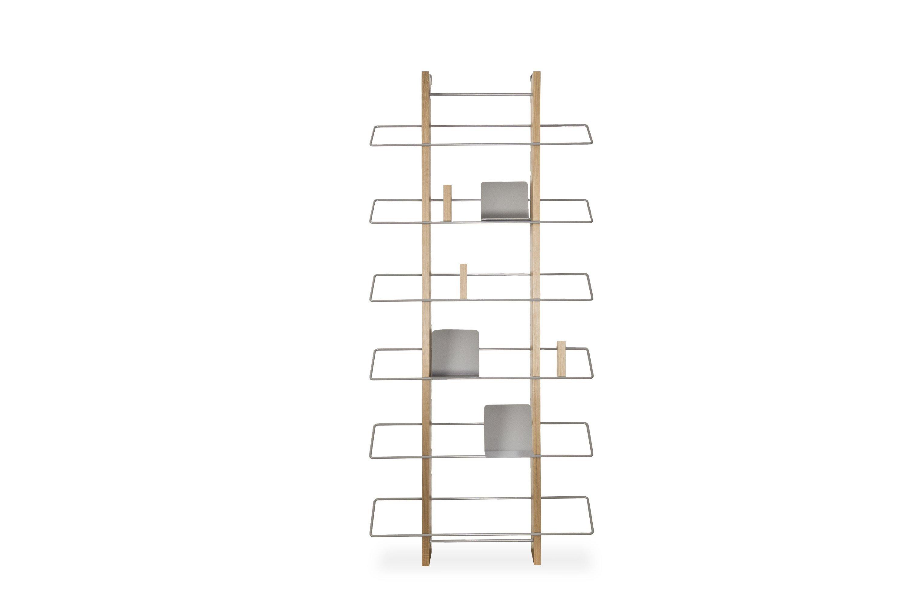 Grapevine Wooden Wall Bookshelf - Platinum Grey - merk: Edizione Limitata