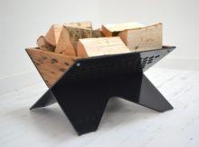 Reclaimed Oak Log Basket Jam Furniture