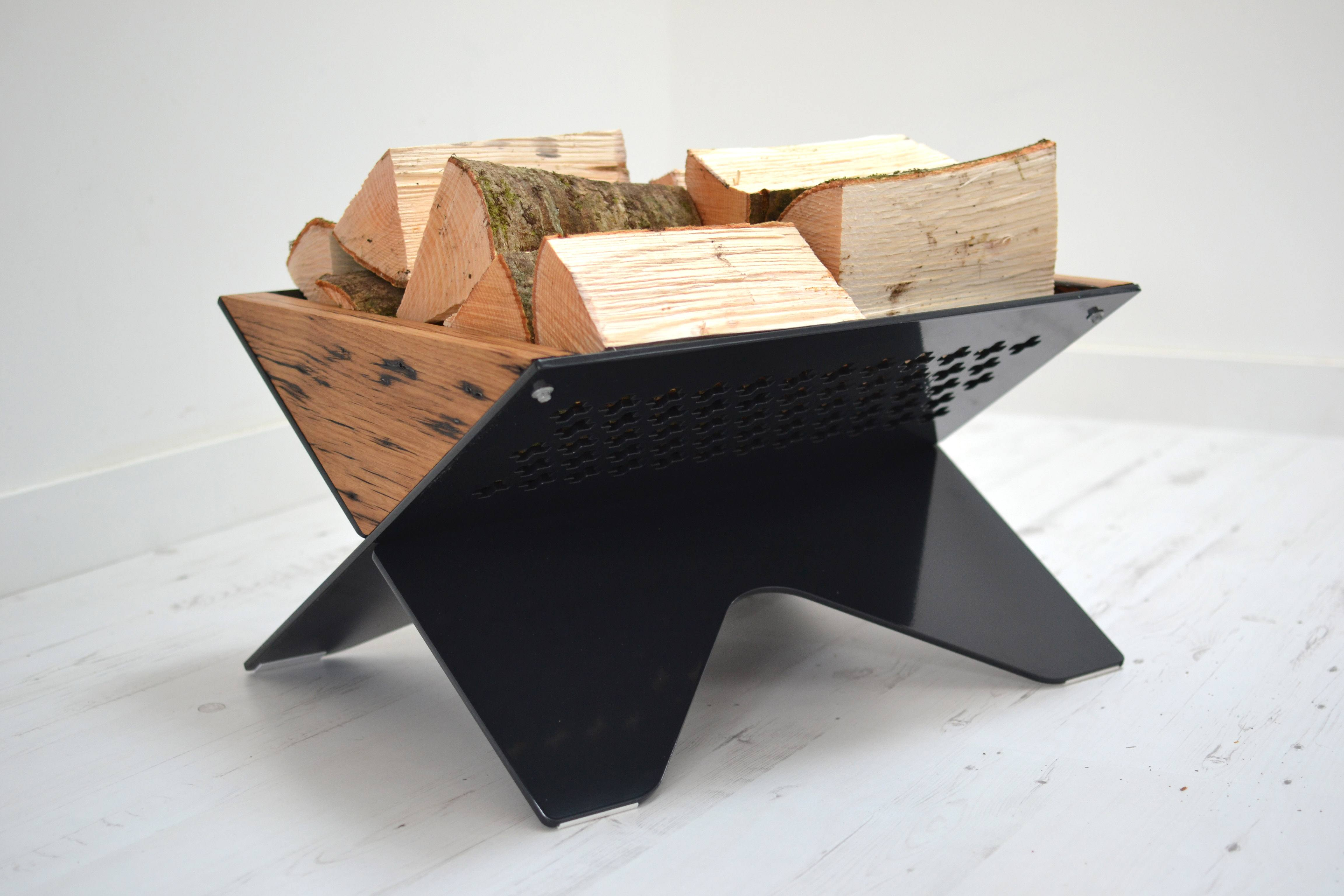 Reclaimed Oak Log Basket - merk: Jam Furniture