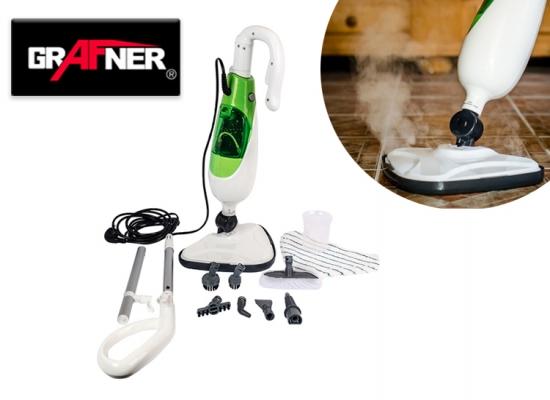 Grafner hygi nische stoomreiniger geschikt voor tegels marmer laminaat en tapijt - Draaibare kop ...